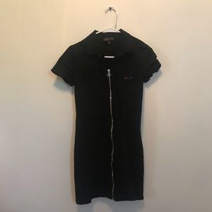 delias / dolls kill black zipper dress